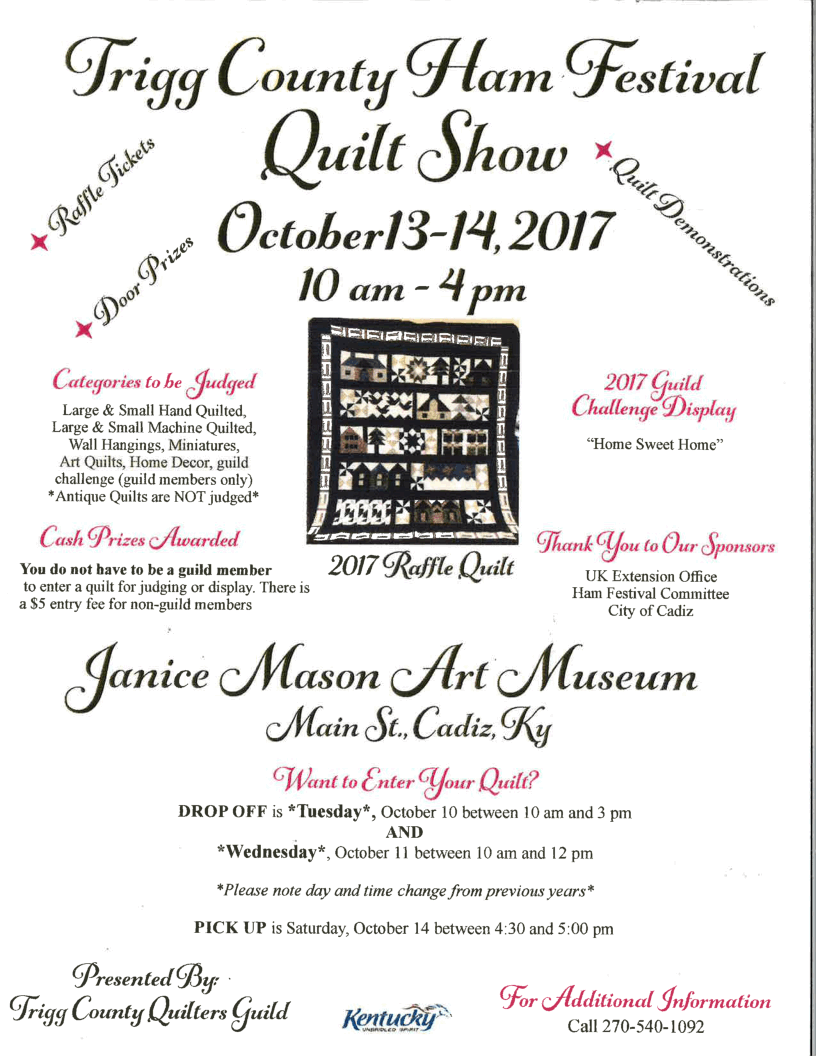 Ham Festival Quilt Show